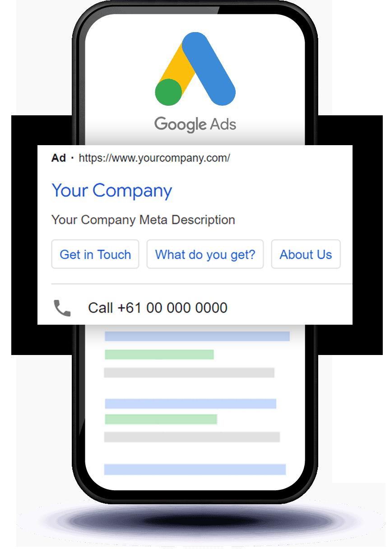Google Ads iPhone Mockup NexusHand