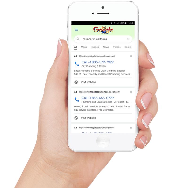 Google ads Sample on Mobile NexusHand