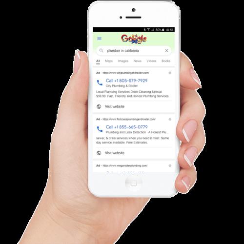 Google ads Sample on Mobile NexusHand Digital